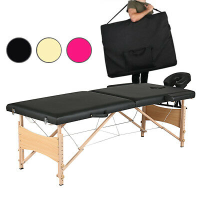 Portable Folding Lightweight Massage Table Beauty Salon Tattoo Therapy 2 Section