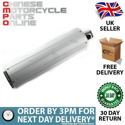 Silver Exhaust Silencer 440mm (EXHSIL012)