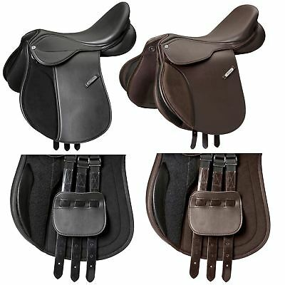 "Eric Thomas ""Advance"" Close Contact Jumping Saddle and Cover Black"