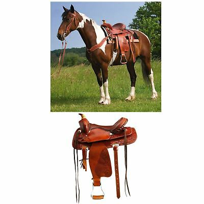 "Randol's ""Brian"" Saddle Set inc. Bridle and Breastplate Chestnut"