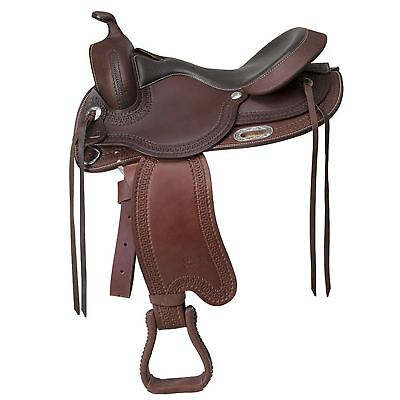 "Randol's ""Denver"" Western Saddle Chocolate Brown"