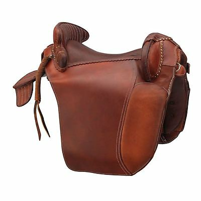 "Excelsior ""Camargue"" Oiled Leather Saddle Chestnut Brown"