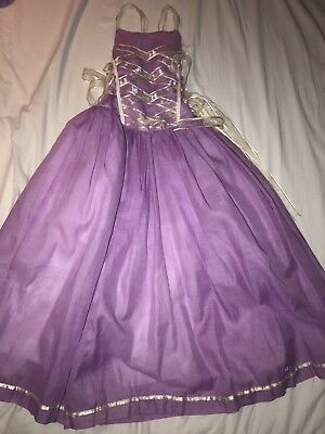 Rapunzel Princess Girls Long Dress Lilac Size 6T Wedding Event Picture Pageant
