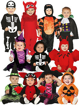 Baby Toddler Halloween Costume Skeleton Vamp Devil Monster Witch Fancy Dress