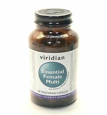 Viridian Essential Female Multi With Hibiscus Saffronand Cranberry - 60 VCaps