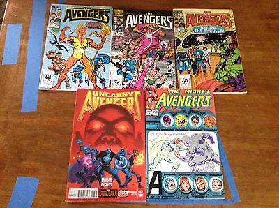 The Avengers : bundle of 5 ( #253, #258, #268, #259, and the uncanny avengers #7