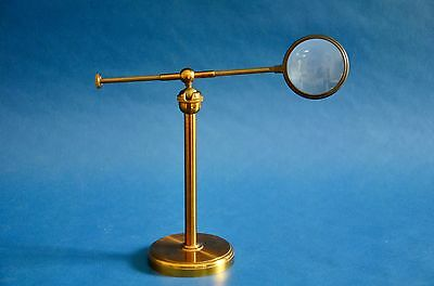Victorian Brass-And-Glass  Bull'S Eye Condenser
