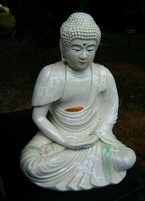 Antique Meiji Period Japanese Porcelain Buddha Guan Yin