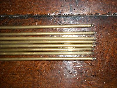 8x Victorian/Edwardian Brass Stair Rods