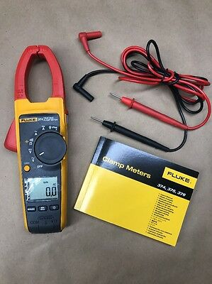 Fluke 374 True Rms Ac/dc Voltage Volt Clamp Meter Leads Manual