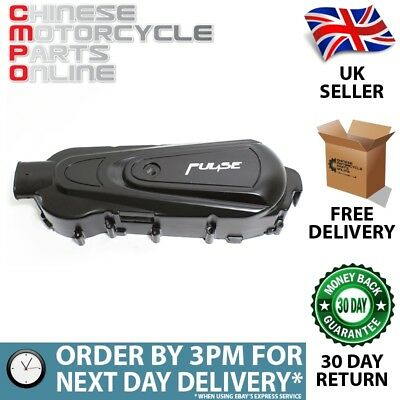 125cc Pulse Drive Belt Cover 450mm with Pulse Logo Black for ZN125T-32A (#036)