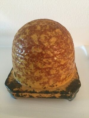 Antique Stoneware Beehive Bank