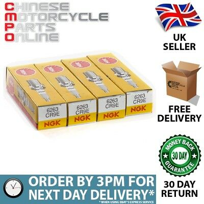 4x NGK CR9E Spark Plugs (6263) for Suzuki GSXR 1000 [2001-2008] (NGK6263X4)