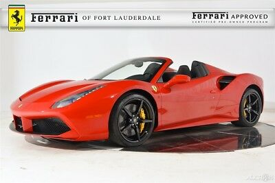2017 Ferrari Other 488 Spider Certified CPO pecial Paint Carbon Fiber LED CarPlay Daytona Sport Exhaust Camera Electric