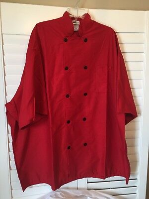 Fame Chef - Red Chef Jacket - Black Buttons - Size 5XL