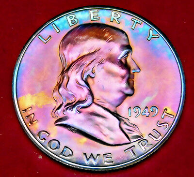 1949S Franklin Half Dollar BU MS+++ UNC Toned with Luster FBL 811 13