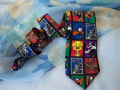 Wholesale Lot of 9 Men's Neck Ties LooneyTunes Nuts Bolts Fishing Lures & more