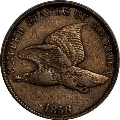 1858 1C Large Letters Flying Eagle Cent PCGS XF40