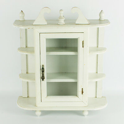 vintage wooden Cupboard hanging storage Cabinet - French country style