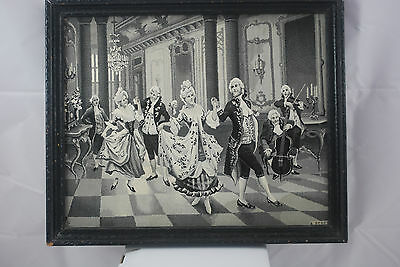 Antique French Woven Silk Tapestry by the Neyret Frères Company - Ballroom Scene