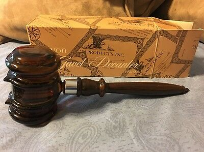 Avon Gavel Decanter ISLAND LIME After Shave Lotion Full In Box Original Box