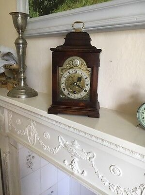 Walnut Bracket Clock by Astral of Coventry Working and seviced
