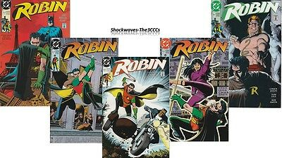 Robin #1, 2, 3, 4 & #5 Of 5 Complete Set 1991 DC Comics - SALE 25% OFF!