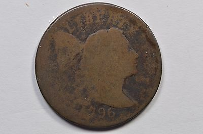 1796 S-81 Flowing Hair Large Cent .99c NO RESERVE