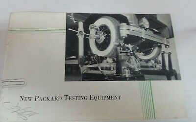 1920's 1930's Packard Service new  testing equipment booklet /brochure
