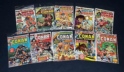 Conan The Barbarian Annual #1-5+ Giant Size #1-5 VG/VF 1970's Marvel PWC