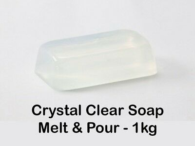 1kg - Crystal (Ultra) Clear Transparent Melt and Pour Soap Base - Free Shipping
