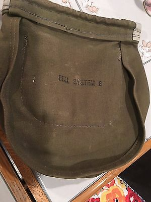 Vintage Bell System Climbing Belt Bag...good Condition