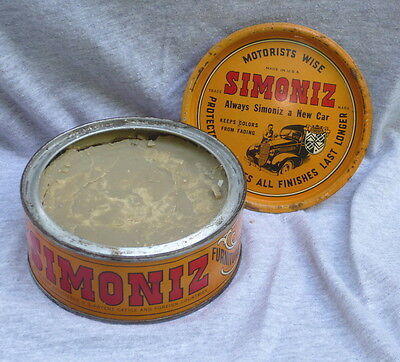 Vintage Simoniz Automobile / Furniture Wax Can