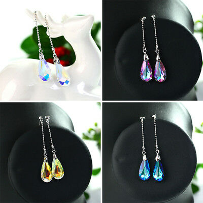 Charm Long Chain Crystal Drop Earring Women Fashion Elegant Earrings