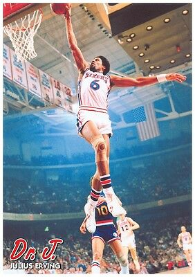 NBA PHILADELPHIA 76ERS DR J JULIUS ERVING POSTER NEW 24x34 FREE SHIPPING