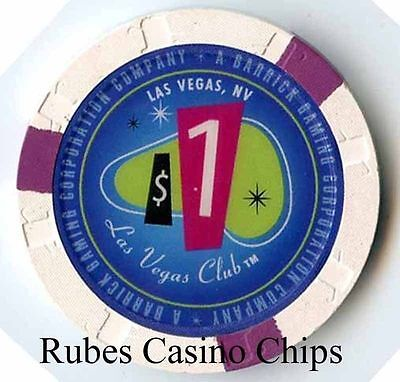 1.00 Chip from the Las Vegas Club Casino in Las Vegas Nevada 3 inserts