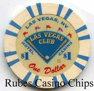 1.00 Chip from the Las Vegas Club Casino in Las Vegas Nevada Baseball 16 Inserts