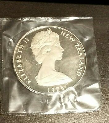 1976 New Zealand Proof Dollar $1 Coin In OGP