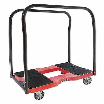 SNAP-LOC PANEL CART DOLLY RED with 1,500 lb. capacity, steel frame, strap 4 inch