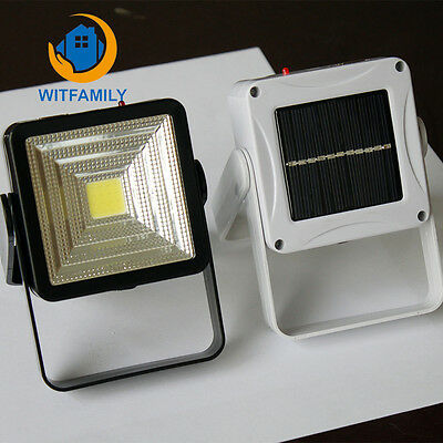 Bright COB LED Camping Lantern Solar Power Rechargeable Hiking Emergency Light