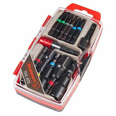 Stalwart 75-HT4013 Power Bit and SAE Nut Driver Set 13 Piece