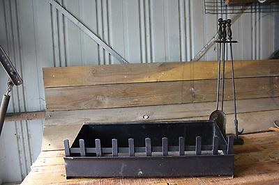 Fire Grate Box Style Clean Thick Steel Plate & Some Fireside Tool Open Wood