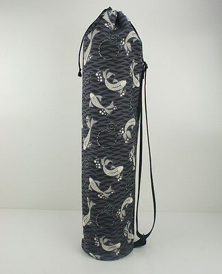 Organic Cotton Yoga/Pilates Mat Bag with Adjustable Carry Strap Fits Mat 6mm