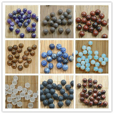 Wholesale Natural Gemstone Round Spacer Beads Jewelry Making 4/6/8/10MM