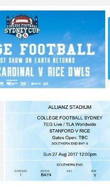 College Football Tickets - Stanford v Rice