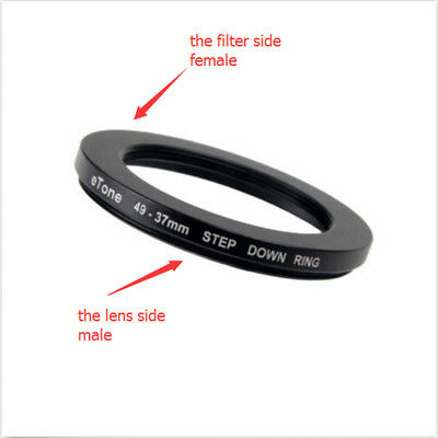eTone 49-37mm Metal Step Down Adapter Filter Ring 49mm Lens to 37mm Accessory