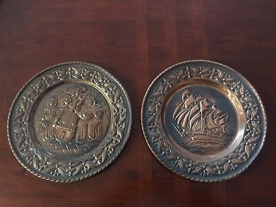 Copper Plate Wall Hanging X2