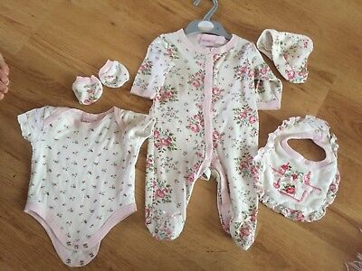 0-3 Months Baby Girls Outfit Babygrow