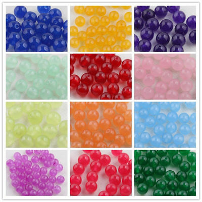 Wholesale Jade Gemstone Round Loose Spacer Beads Jewelry Making DIY 6/8/10mm