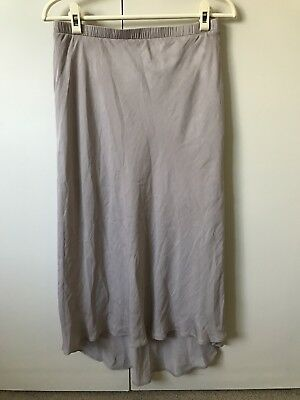 Sportsgirl Long Skirt SiZe 10-12 Mushroom Grey